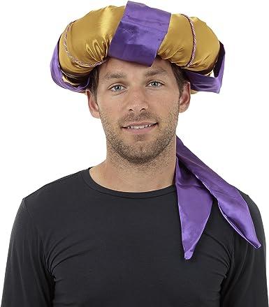 Fancy Dress Accessory Sultan Hat Purple//Gold