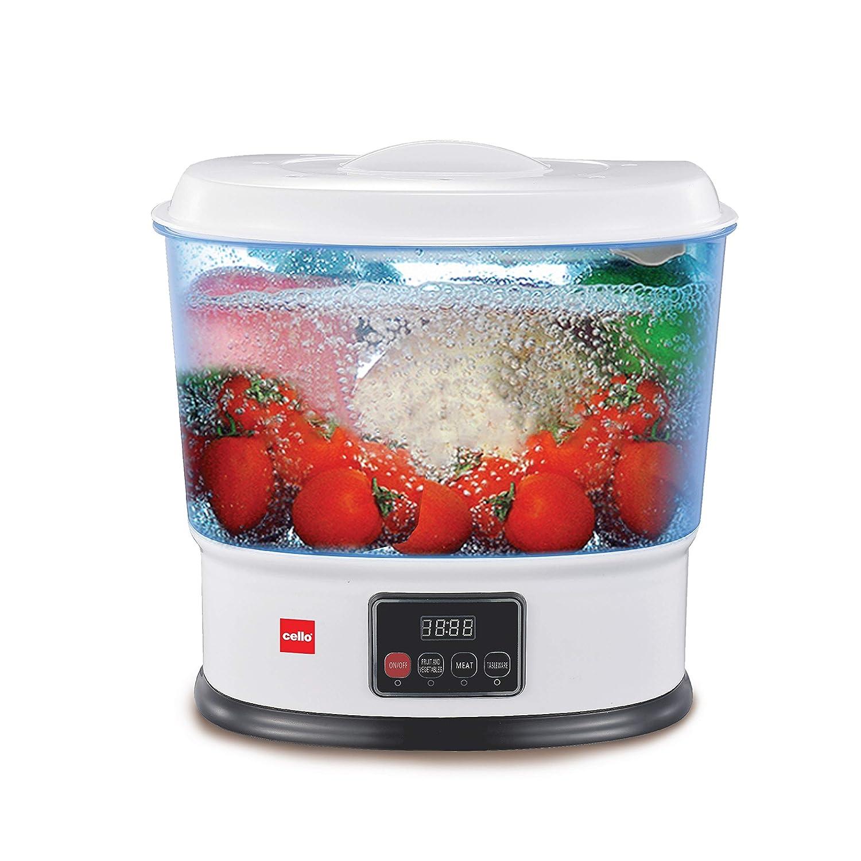 Cello Vegetable & Fruit Cleaner, 10Ltr, 8W, White