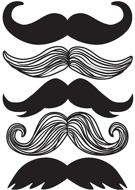 Wall Pops WPK0751 WPK0751 Mustache Wall Art Decal Kit - Decorative ...