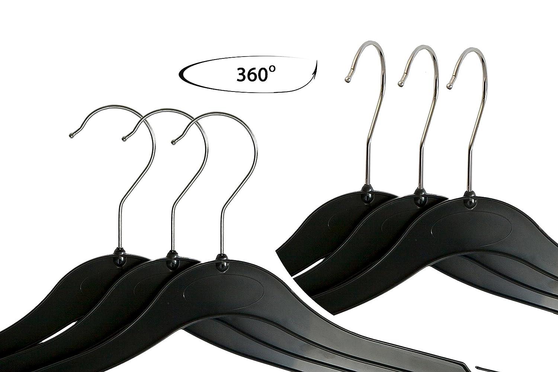Hecho en la UE Acogedor World Pack de 20/Perchas de pl/ástico con Ganchos en la Parte 45/cm Que Todo se cuelga Vestidos Blusas y Faldas 18/Pulgadas