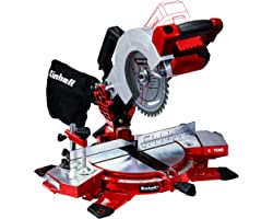 Einhell Power X-Change 18-Volt Cordless 8.5-Inch 3,000-RPM Miter Saw, w/LED Lamp, Laser Guide and 40-Tooth Saw Blade, Tool On