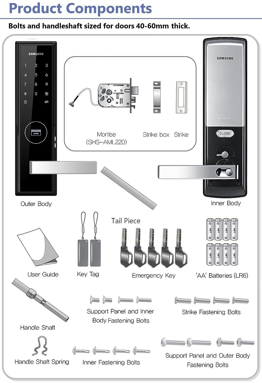 SHS-5050 US//English Model NEW SAMSUNG SHS-H505FMK//EN Digital Door Lock