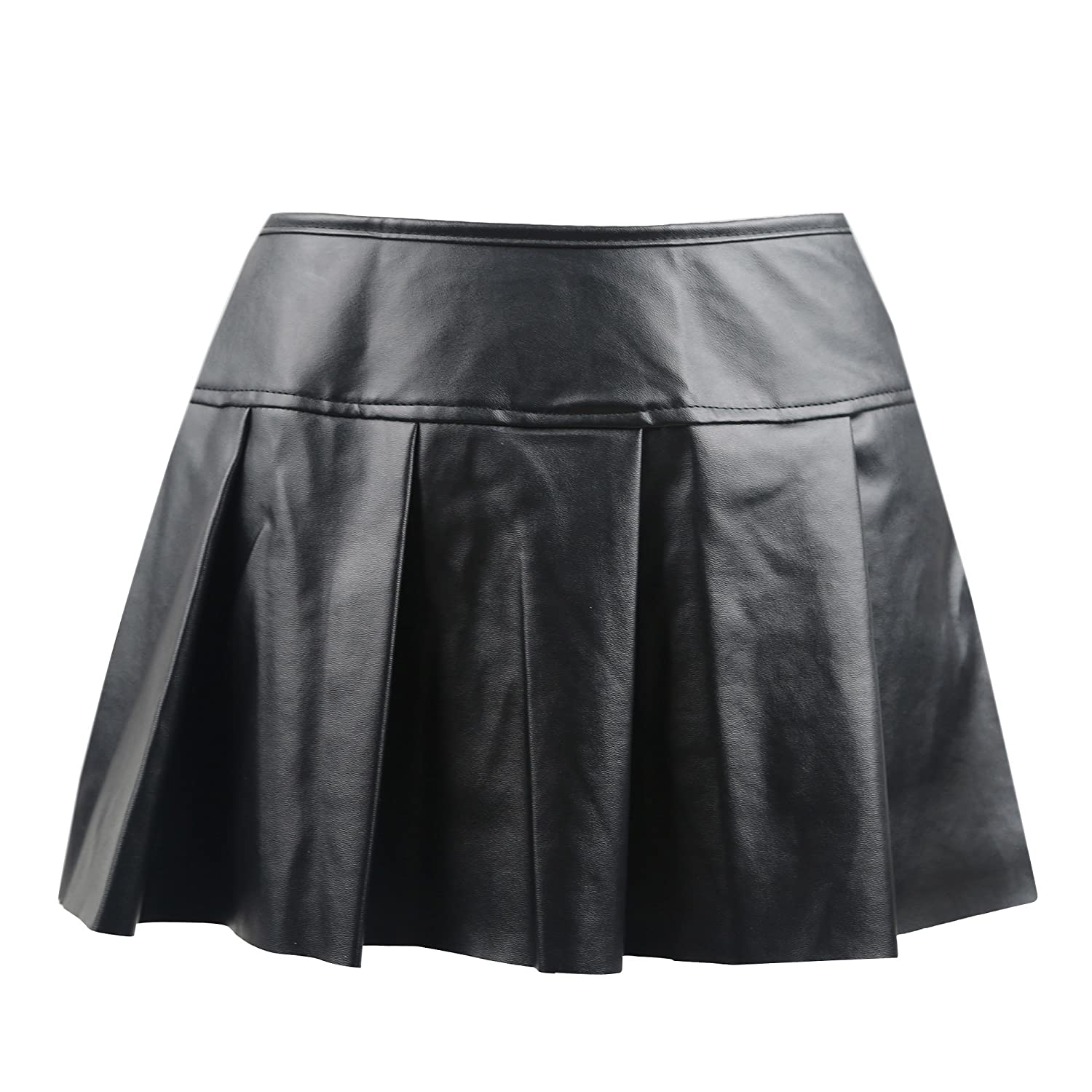 Killreal Women's Punk Rock Faux Leather Bodycon Short Skirt Zp Fashion ZP0009443
