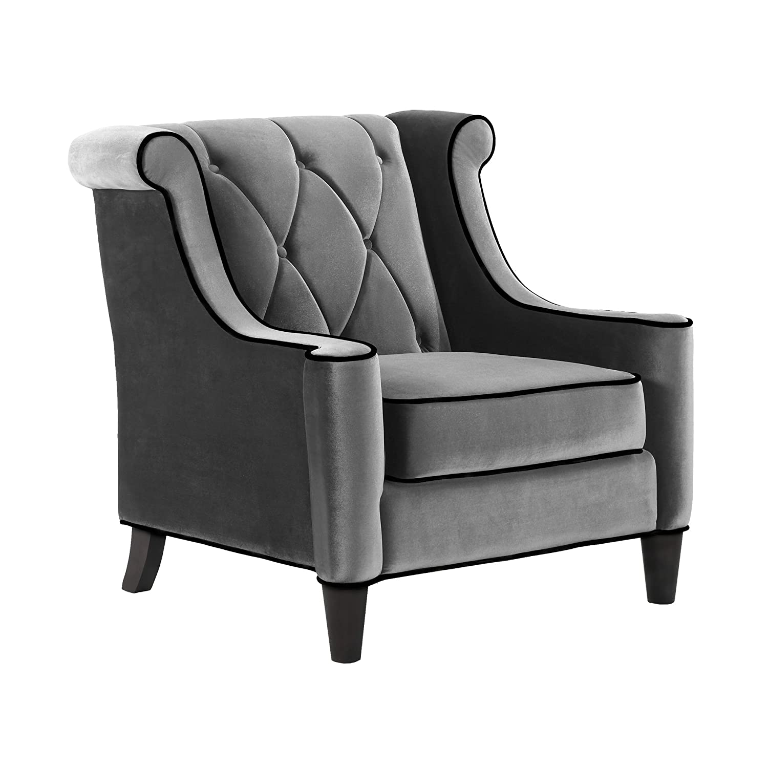 Amazon Armen Living LC8441GRAY Barrister Side Chair in Grey