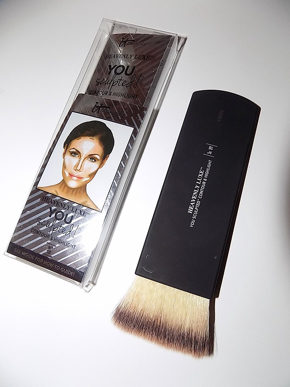 it Cosmetics Heavenly Luxe You Sculpted Contour Highlight Brush - No 18 by It Cosmetics