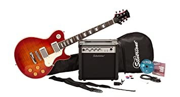 Amazon silvertone ssl3 electric guitar package vintage cherry silvertone ssl3 electric guitar package vintage cherry sunburst asfbconference2016 Choice Image