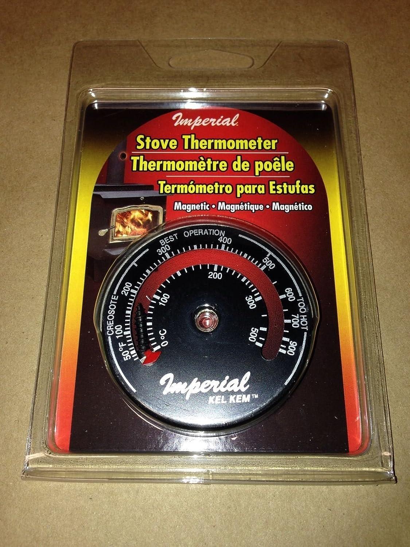 Amazon.com : Magnetic Stove Flue Thermometer (Burn Indicator) Imperial Brand Kel Kem : Everything Else