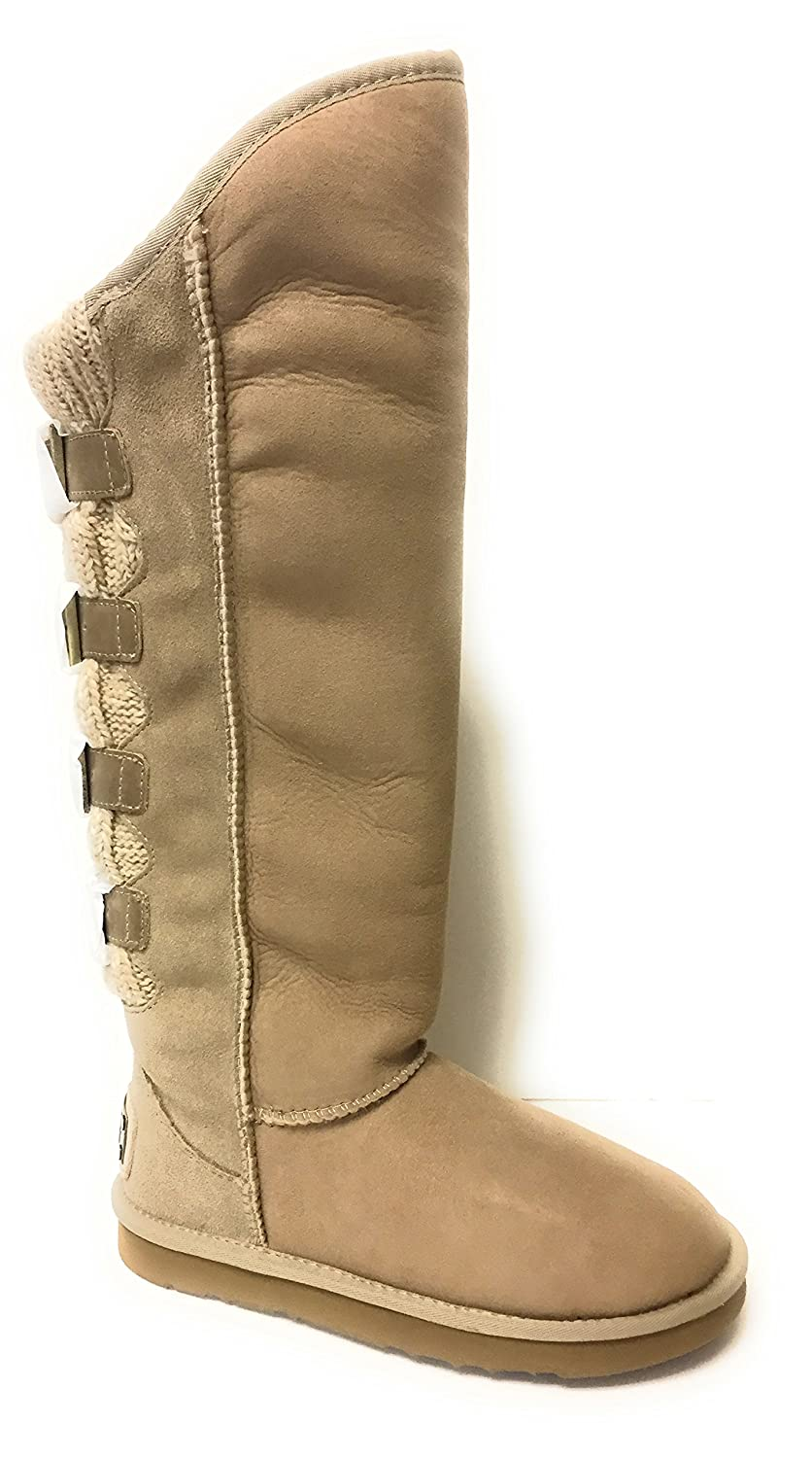 c3c4489004 Amazon.com   Australia Luxe Collective Women's Spartan Wax Knit Extra Tall  Boots Sand US Sz 6   Boots