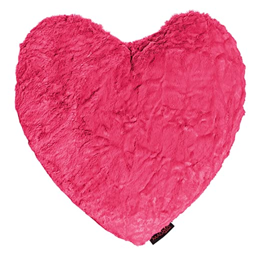 40 x 35 cm aprox Fluffy cojín con forma de corazón de ...