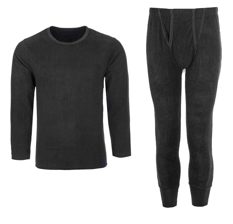 Eliza's®️ Ultimate Heat Micro Fleece Mens Thermal Long Johns/Bottoms Trousers, Long Sleeve T Shirt Top Vest Winter Underwear