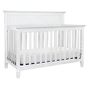 DaVinci Perse 4-in-1 Convertible Crib in White Finish