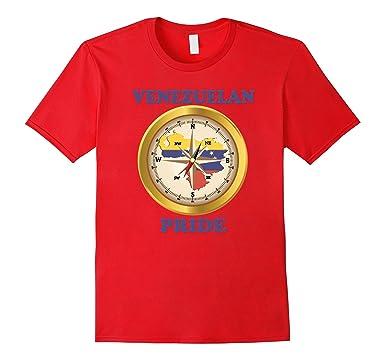 Mens Venezuela tshirt Venezuelan pride shirt Camiseta Brujula 2XL Red