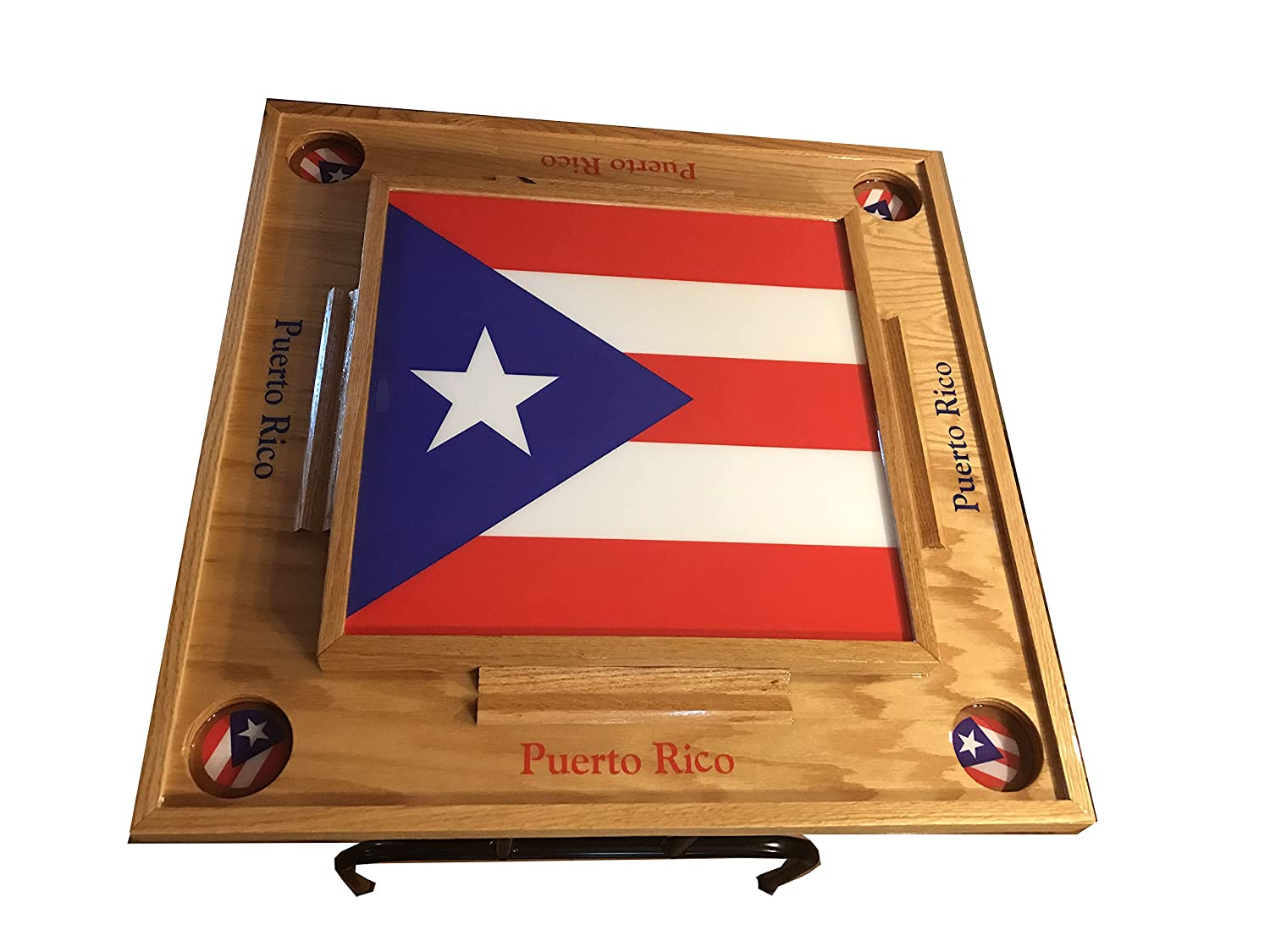 amazon com puerto rico domino table with the flag full