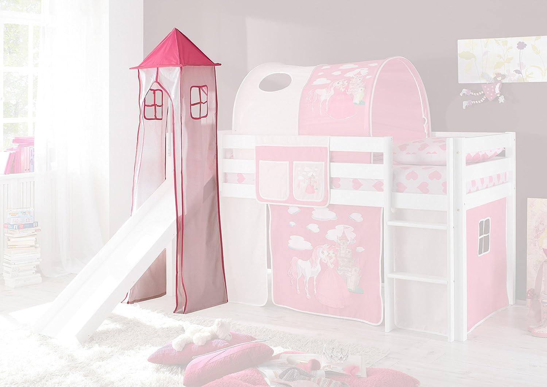 Etagenbett Vorhang Auto : Jugendmöbel turmgestell turm vorhang pink rosa prinzessin