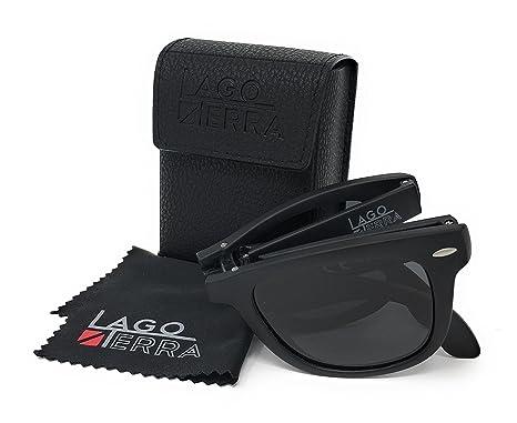 LAGO TERRA Wayfolder Herren Klapp-Sonnenbrille polarisiert schwarz pAG7geqr