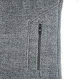 INVACHI Men's Slim Fit Winter Warm Long Wool Coat
