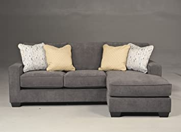 Pleasant Ashley Furniture Hodan Fabric 2 Piece Sectional In Marble Interior Design Ideas Ghosoteloinfo