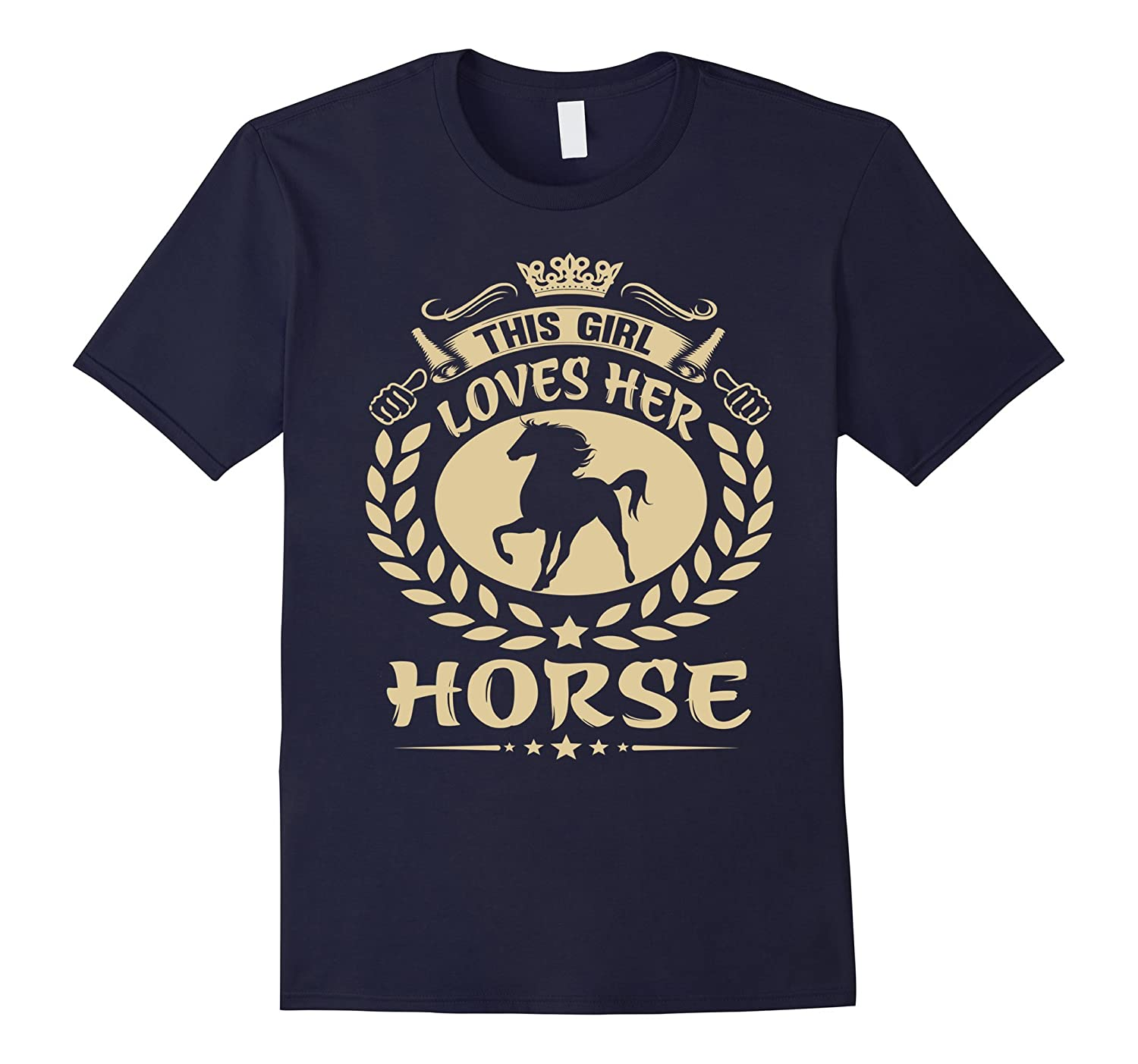 THIS GIRL LOVES HER HORSE Tshirt-Vaci