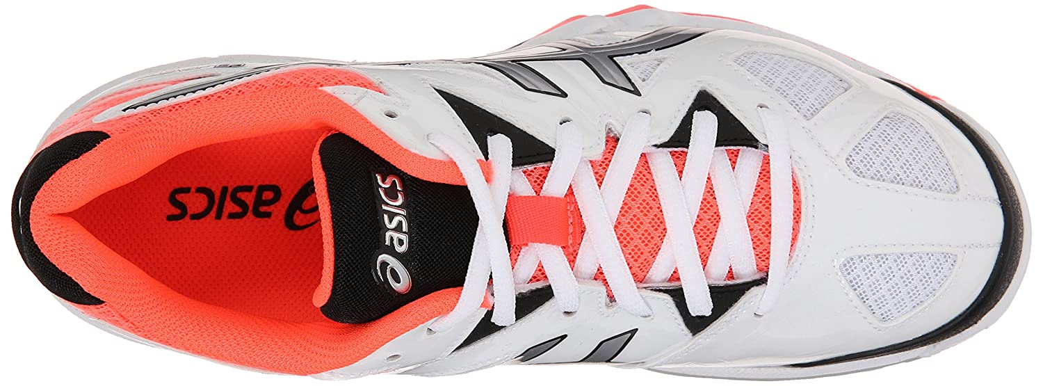 ASICS Women's Gel Tactic Volleyball Shoe B00Q2JM2A4 13 B(M) US|White/Silver/Flash Coral