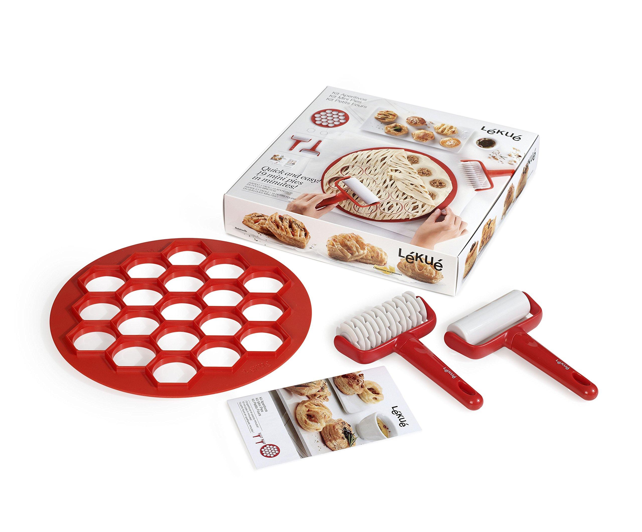 Lekue 0200130SURM017 Mini Pie Kit, Red
