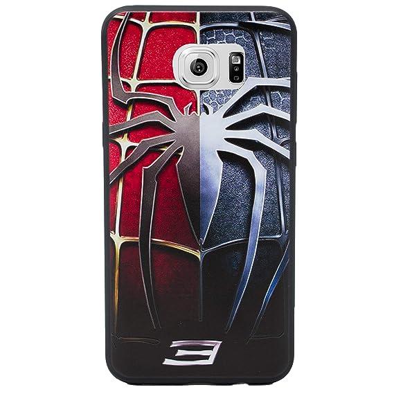 designer fashion b24b1 cc7cc Galaxy S6 Edge 3D Marvel Silicone Phone Case/Gel Cover for Samsung Galaxy S  6 Edge (S6 Edge/G925) / Screen Protector & Cloth/iCHOOSE/Spiderman 3