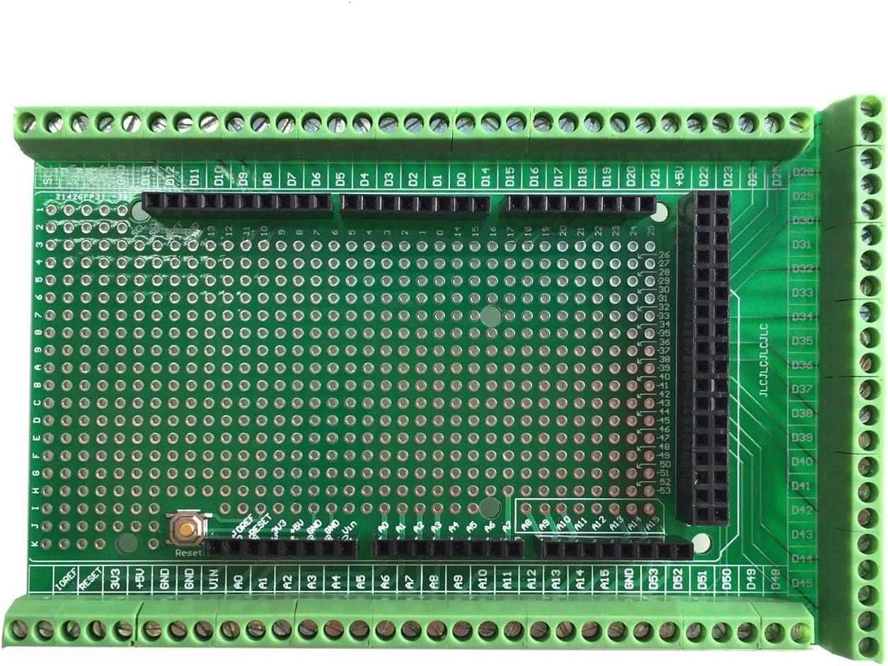 WINGONEER® Prototype Screw/Terminal Block Shield Board Kit para Arduino MEGA 2560 R3 DIY soldado