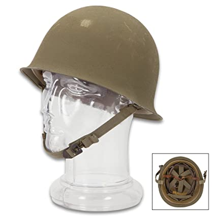 Amazon com : French Army M51 Helmet - Genuine Military Surplus