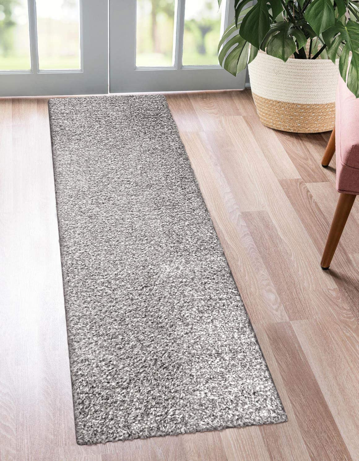 Kaluns Runner Rug, Hallway Runnert, Super Absorbent Rug Runner, Doormats for Entrance Way, Non Slip PVC Waterproof Backing, Machine Washable 2 x6 Runner, Gray