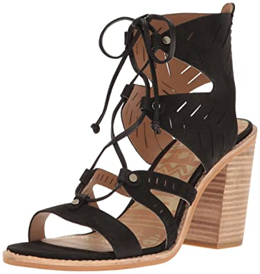 Womens Luci Heeled Sandal, Saddle Nubuck, 9 M US Dolce Vita