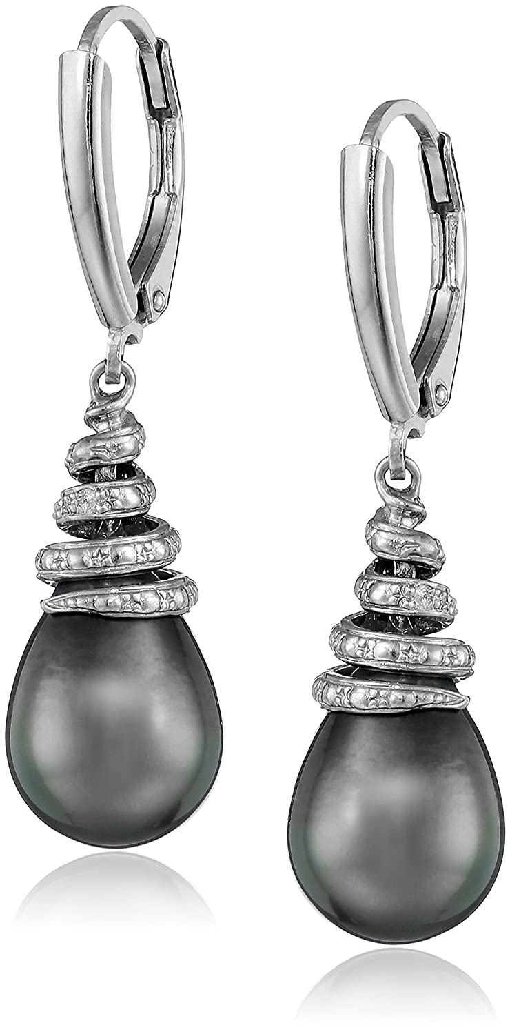 silver earrings com ip diamond walmart sterling accent hoop