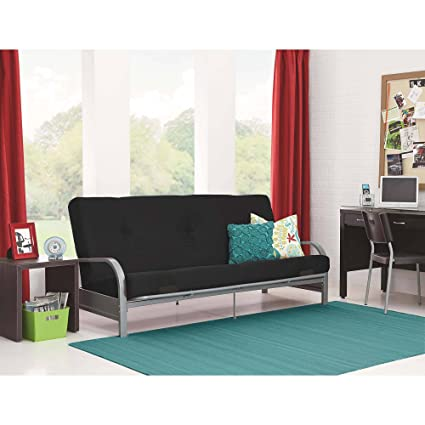 Sofas-Bedroom Furniture-Premium Full Size Metal Arm Frame With Black  Mattress-Couches And Sofas-Bring Contemporary Style And Functionality To  Any ...