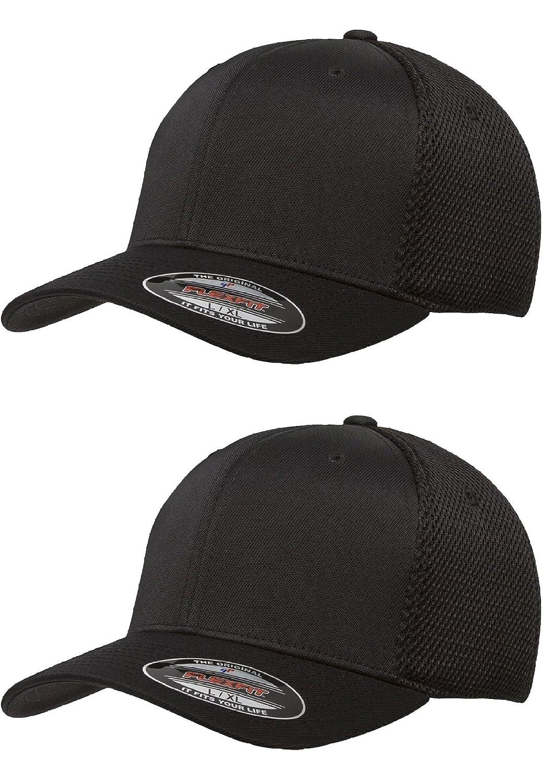 129cd15fafa480 Flexfit 6533 Ultrafibre & Airmesh Fitted Cap, 2pack (2-black Caps) -  Large/X-Large at Amazon Men's Clothing store:
