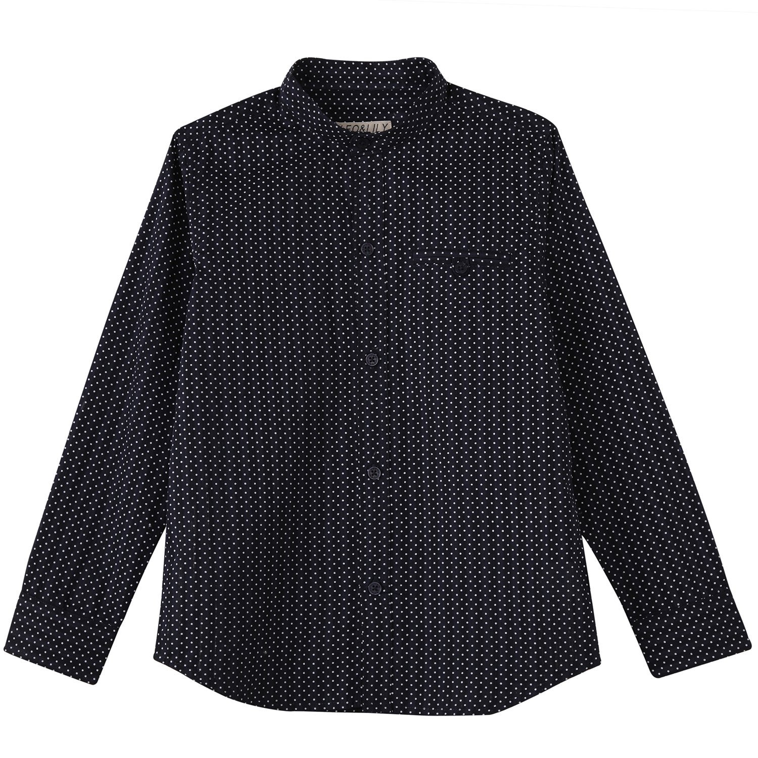 Leo&Lily Big Boys' LLB263-6-Navy, Navy, 6 by Leo&Lily (Image #6)