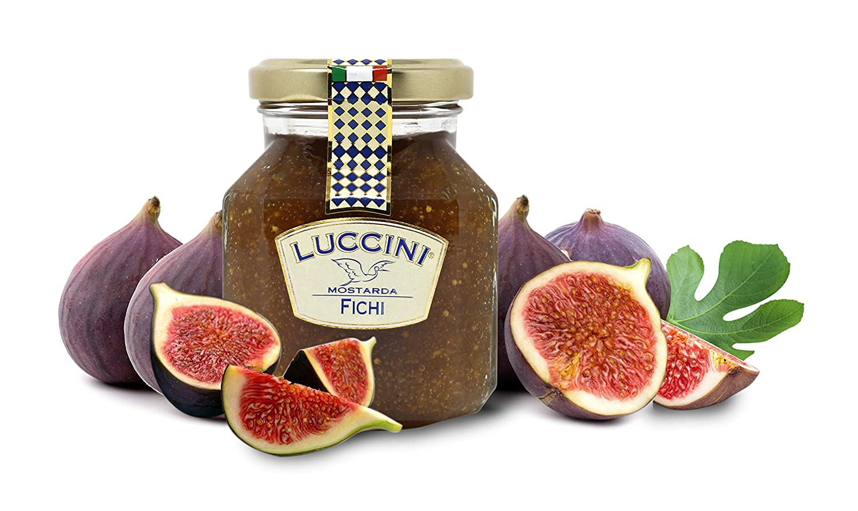 Luccini Artisanal Fig Mostarda - Italian Speciality Food, Traditional Recipe - 240g / 8.46oz