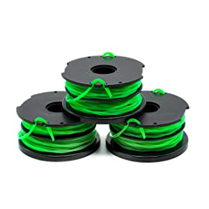 "Garden NINJA 0.080"" Dual-Line Replacement Trimmer Spool Compatible with Black+Decker EFD-080, 3-Pack"