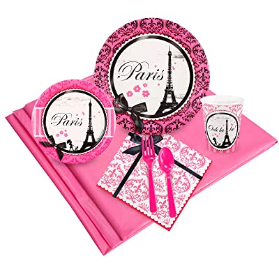 BirthdayExpress Paris Eiffel Tower Damask Party Supplies - Party Pack: Toys & Games
