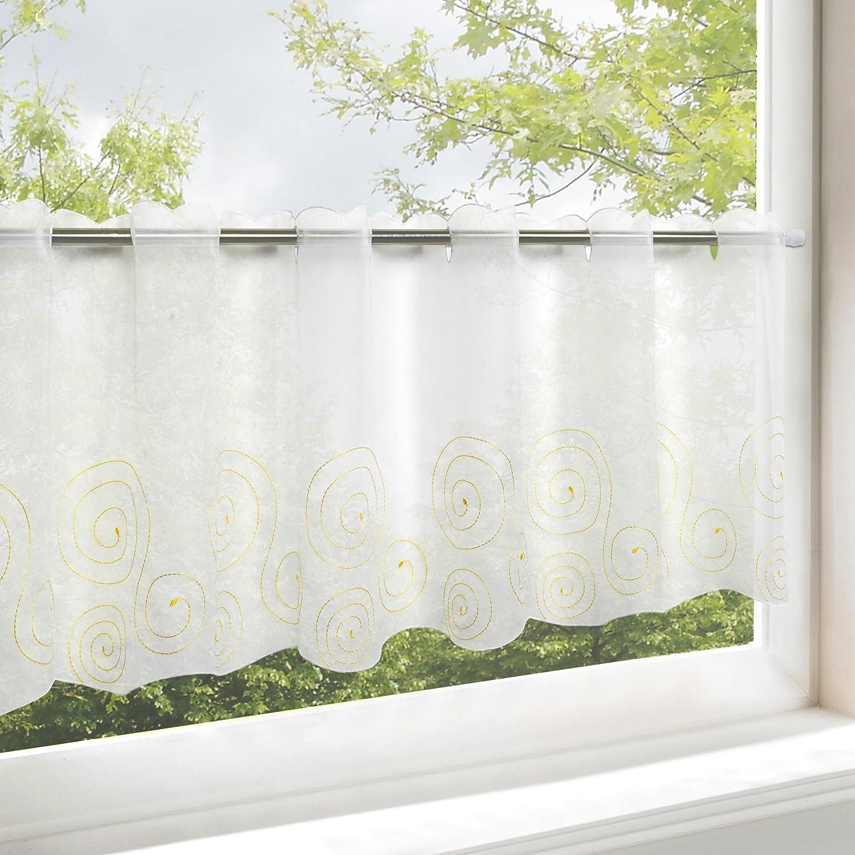 'Cortina semitransparente Cocina cortina con barra.