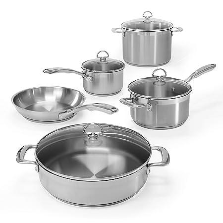 Chantal SLIN-9 Induction 21 Steel 9-Piece Cookware Set