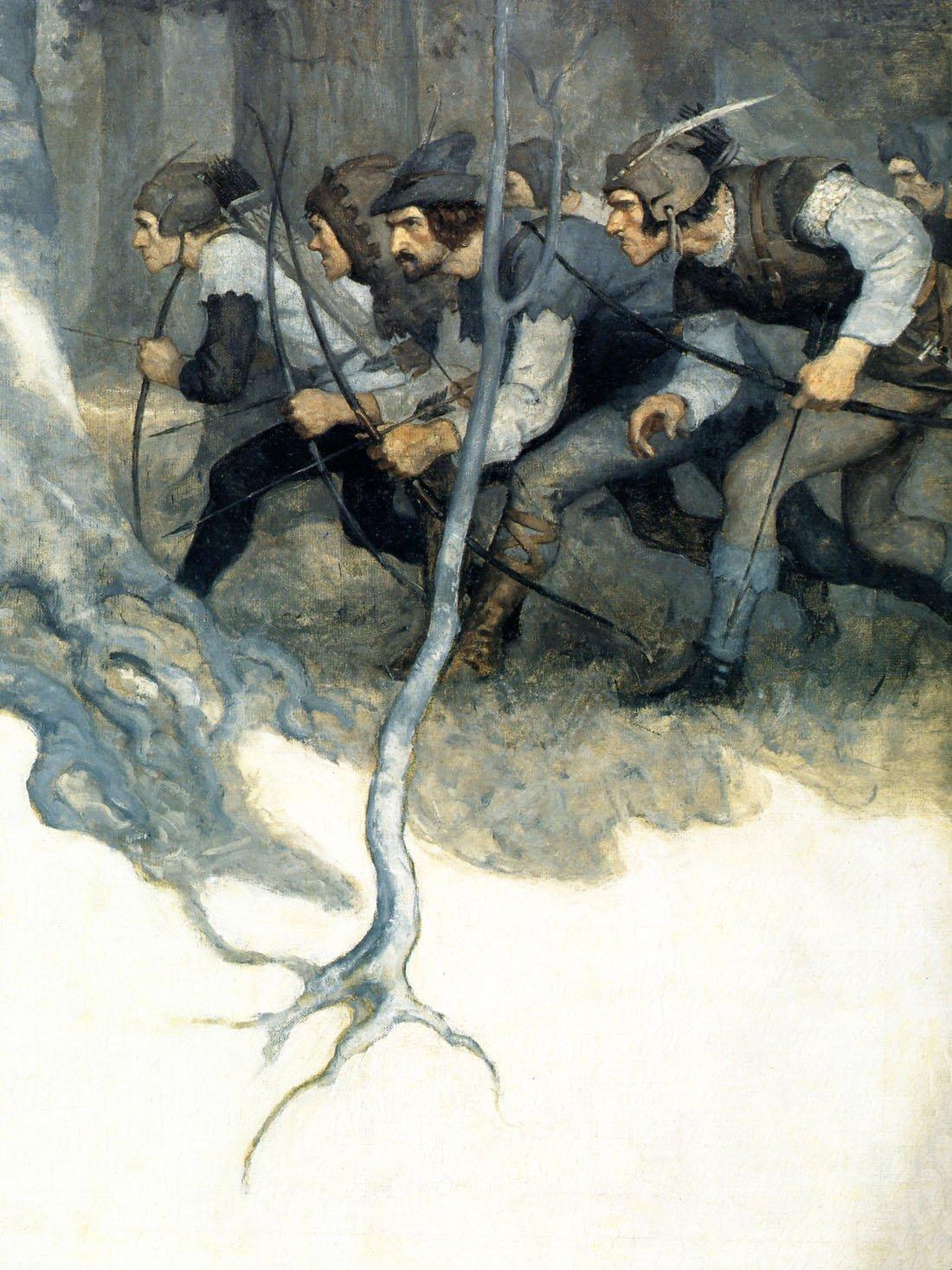Theブラックarrow- NC Wyeth – キャンバスまたは壁アートプリント Fine Paper - 18 x 24 Fine Paper - 18 x 24  B008GWPGCG
