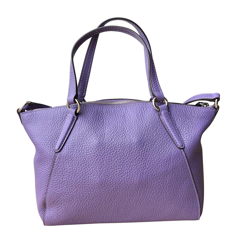 e03000334df88 Coach Pebble Leather Mini Kelsey Satchel Crossbody Handbag (SV Light  Purple)  Handbags  Amazon.com