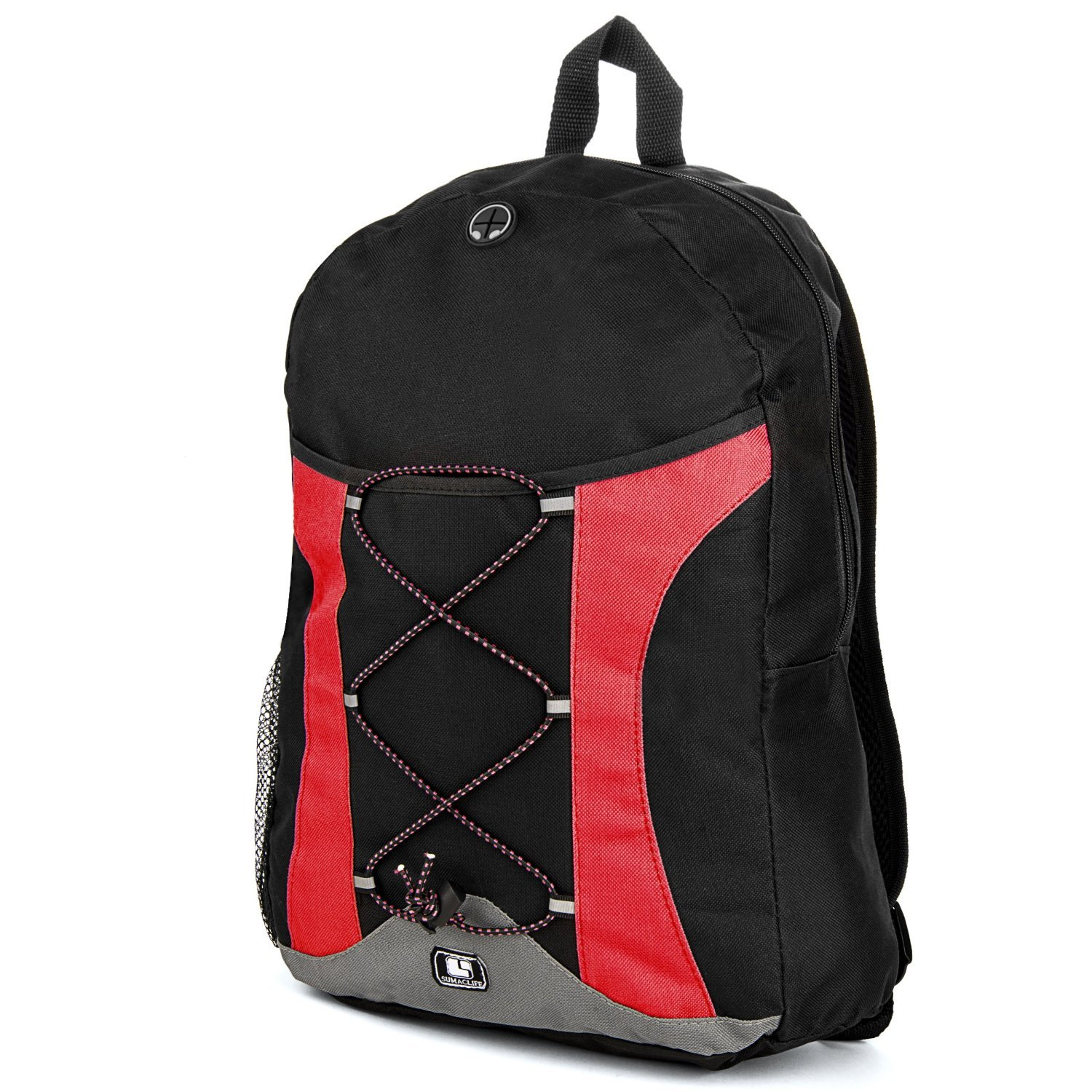 "free shipping SumacLife Canvas Athletic Ultra-Lightweight Sport Backpack / Shoulder Bag / School Backpack / Trave Bag / Laptop Bag Fits 14"" 15"" 16"" inch(Red/Black)"