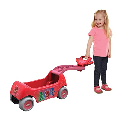 PJ Masks Disney Owlette 2-in-1 Happy Hauler Wagon & Ride-On Vehicle: Toys & Games