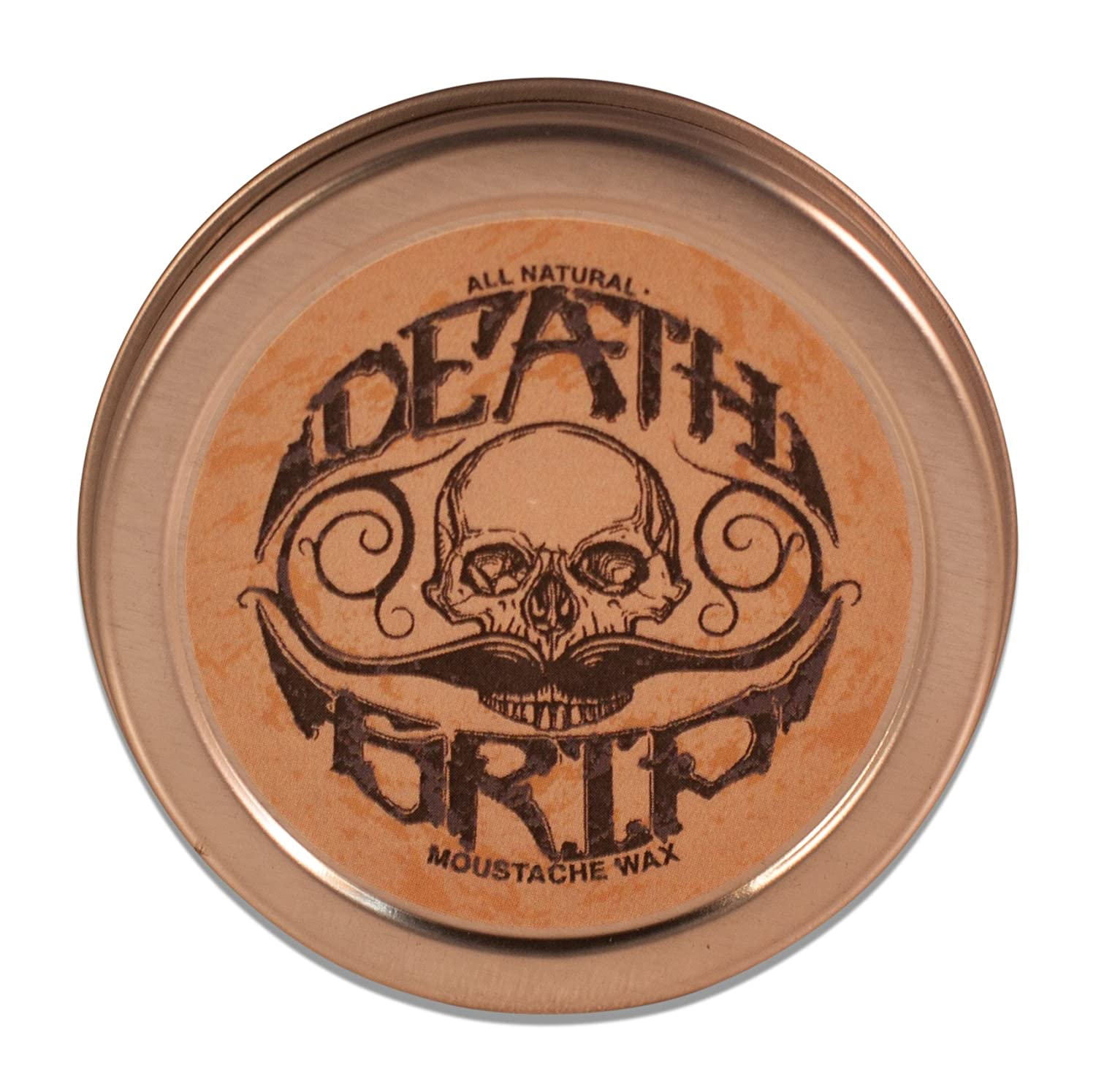 Death Grip Moustache Wax, All-Natural, 1 oz. The Vintage Grooming Company MW-002
