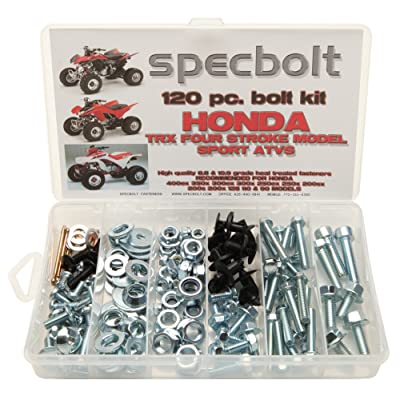 120pc Specbolt Bolt Kit for Maintenance & Restoration fits: Honda 400EX 250EX OEM Spec Fasteners Quad TRX400EX TRX250X aslo Great for ATC & TRX 350x 300ex 300x 250ex 250x 200sx 200s 200x & TRX90: Industrial & Scientific