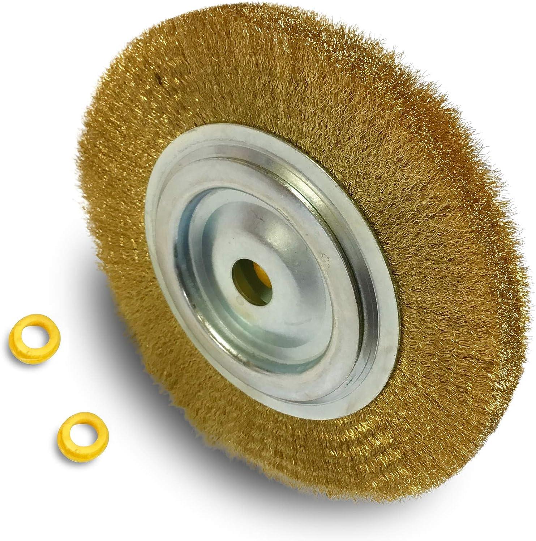 /Ø 250 mm Kibros 231252AT R/éducteur adaptateur Touret meuleuse /établi banc Acier fil ondul/é 0,30 Brosse circulaire m/étallique acier al/ésage Polissage meulage /ébavure brossage d/écapage