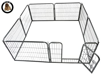 Ellie-Bo Heavy Duty Modular Puppy Exercise Play//Whelping Pen 158 x 158 x 100 cm