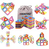 AMOSTING Magentic Building Tiles Building Blocks Educational Construction Building Toys for Boys and Girls Colorful…