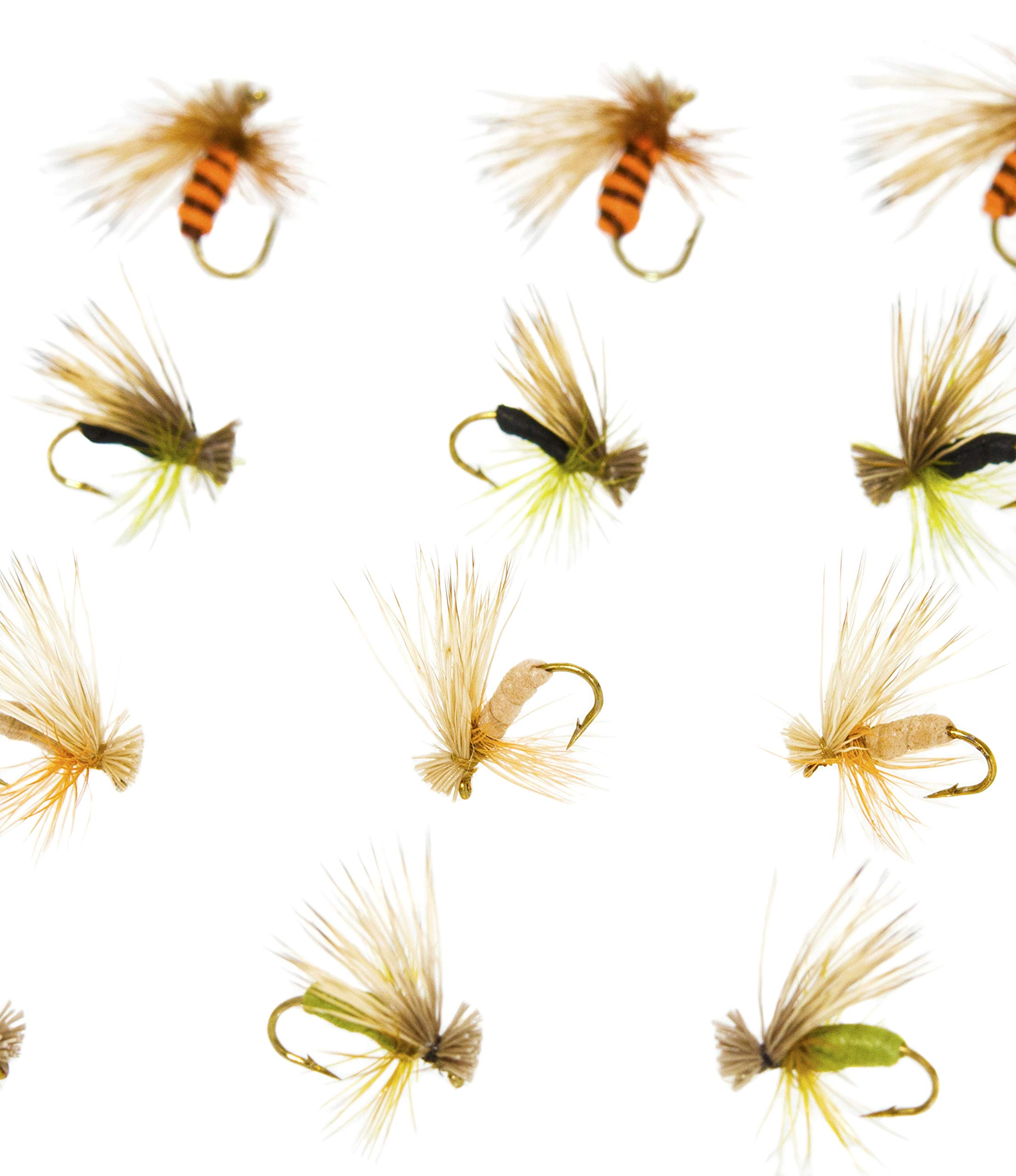 Outdoor Planet 12 Kingrey's Better Foam Caddis Dry Flies for Trout Fly Fishing Flies Lure Assortment by Outdoor Planet