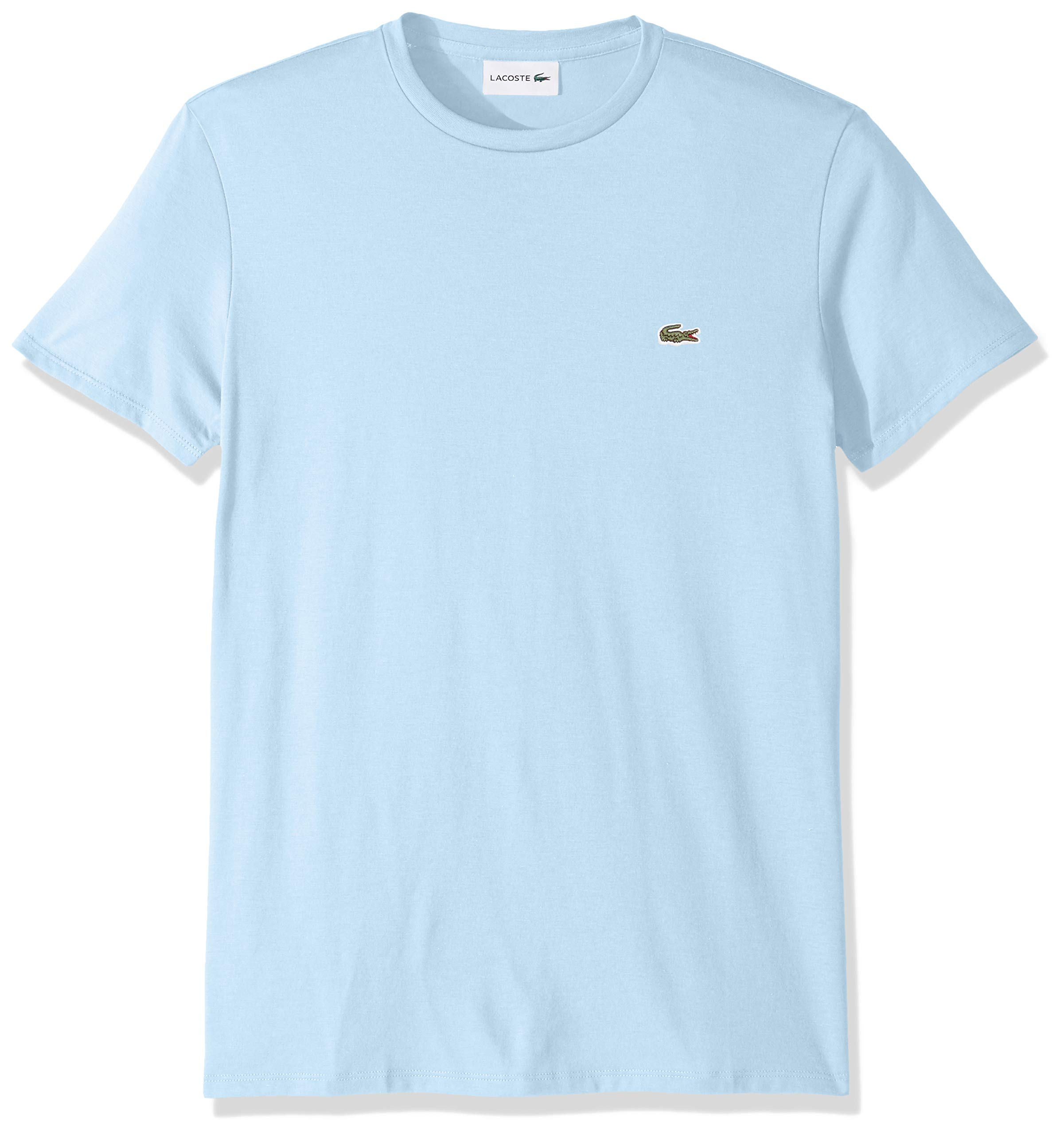 Lacoste Men's S/S PIMA Crewneck T-Shirt, Creek, X-Small