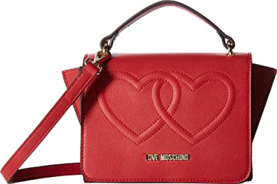 Moschino Tote Bag On Sale, Red, Leather, 2017, one size